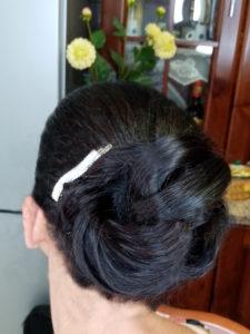 Tina fiorito acconciatura cerimonia raccolto